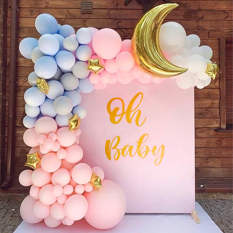 PATIMATE Macaron Balloon Arch 1st Birthday Party Decoration Kids Wedding Birthday Balloon Garland Latex Baloon Oh Baby Shower