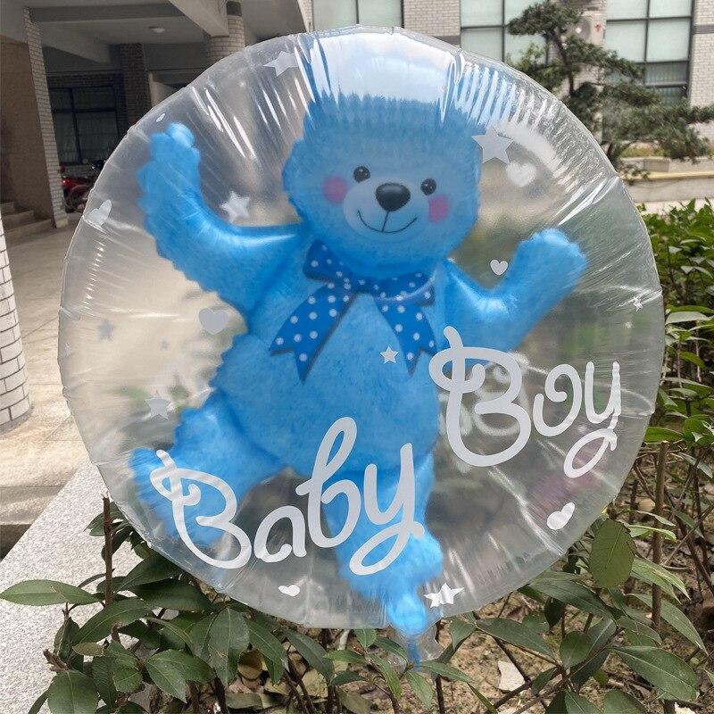 59 * 69cm Large Bubble Bear Aluminum Foil Helium Balloons Boy Girl Baby Shower Wedding Decoration Birthday Party Classic Toys