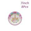 8pcs 7inch Plate