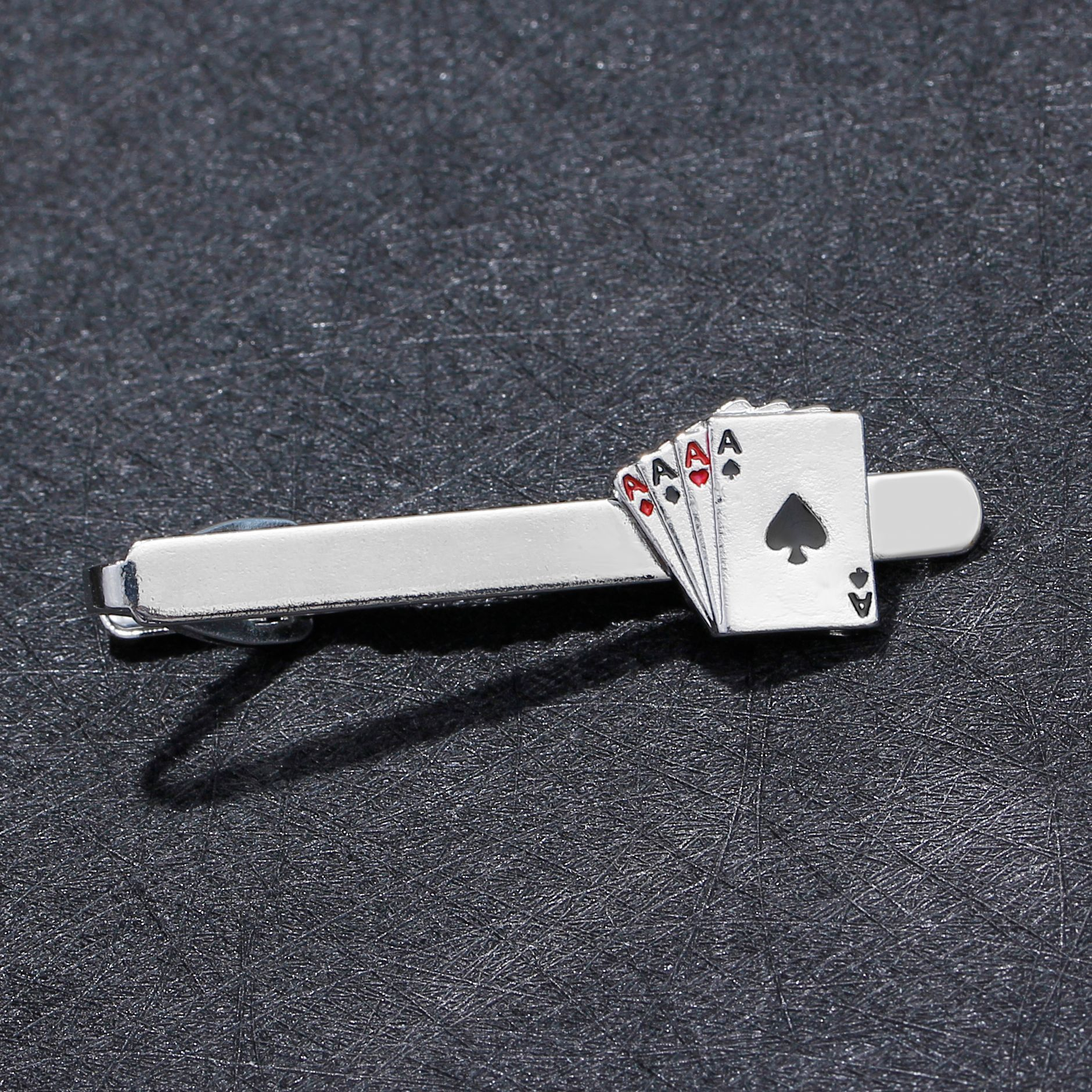 poker tie clip for man groove Clips Cufflinks set Business  4A bomb Unique Wedding Necktie wear  man Fathers Day Gifts