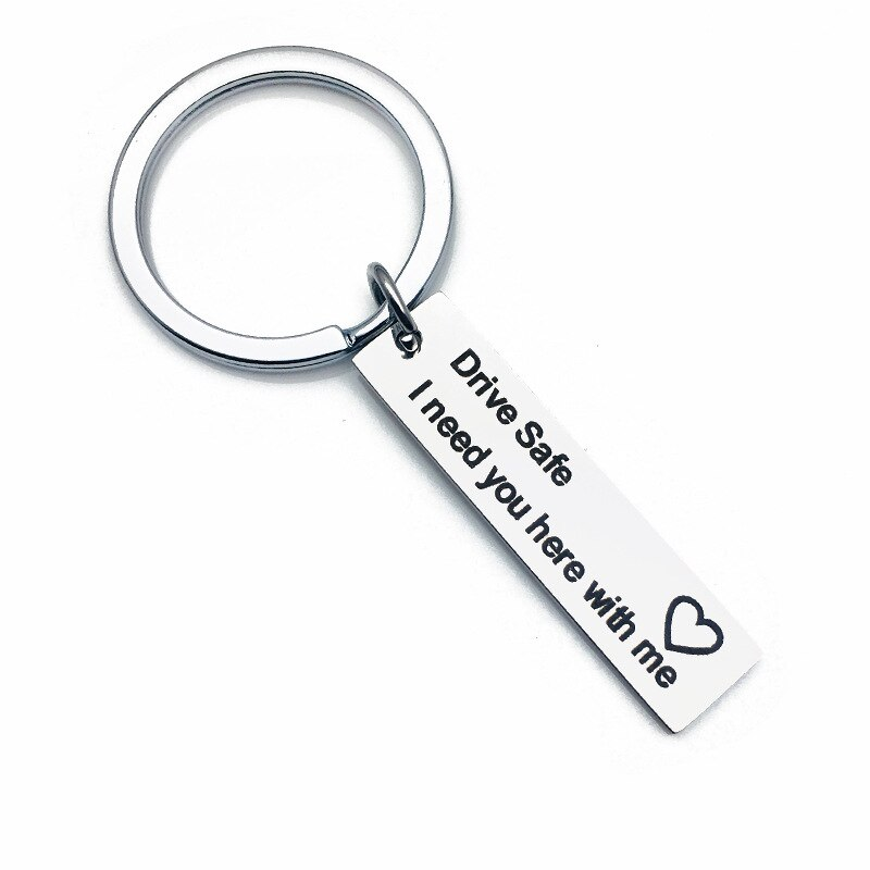 Personalized Gifts Be Safe I Need You Here with Me Keychain Girl for Boyfriends Gift Present Valentines Day Gift Party Favors