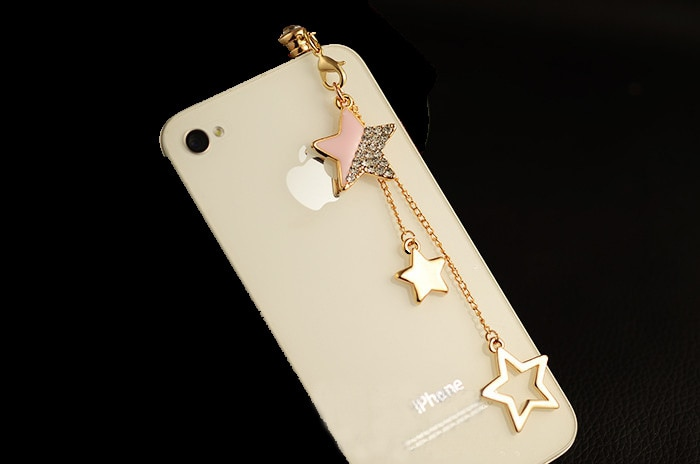Star Pendant Chain Dustproof Plug Caps Cell Phone Accessories 3.5mm Earphone Anti Dust Plug Dachshund For Iphone For Samsung