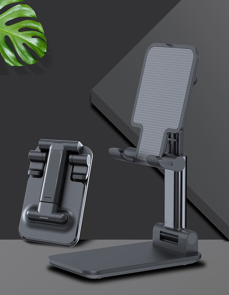 2020 Metal Desktop Tablet Holder Table Cell Foldable Extend Support Desk Mobile Phone Holder Stand For iPhone iPad Adjustable