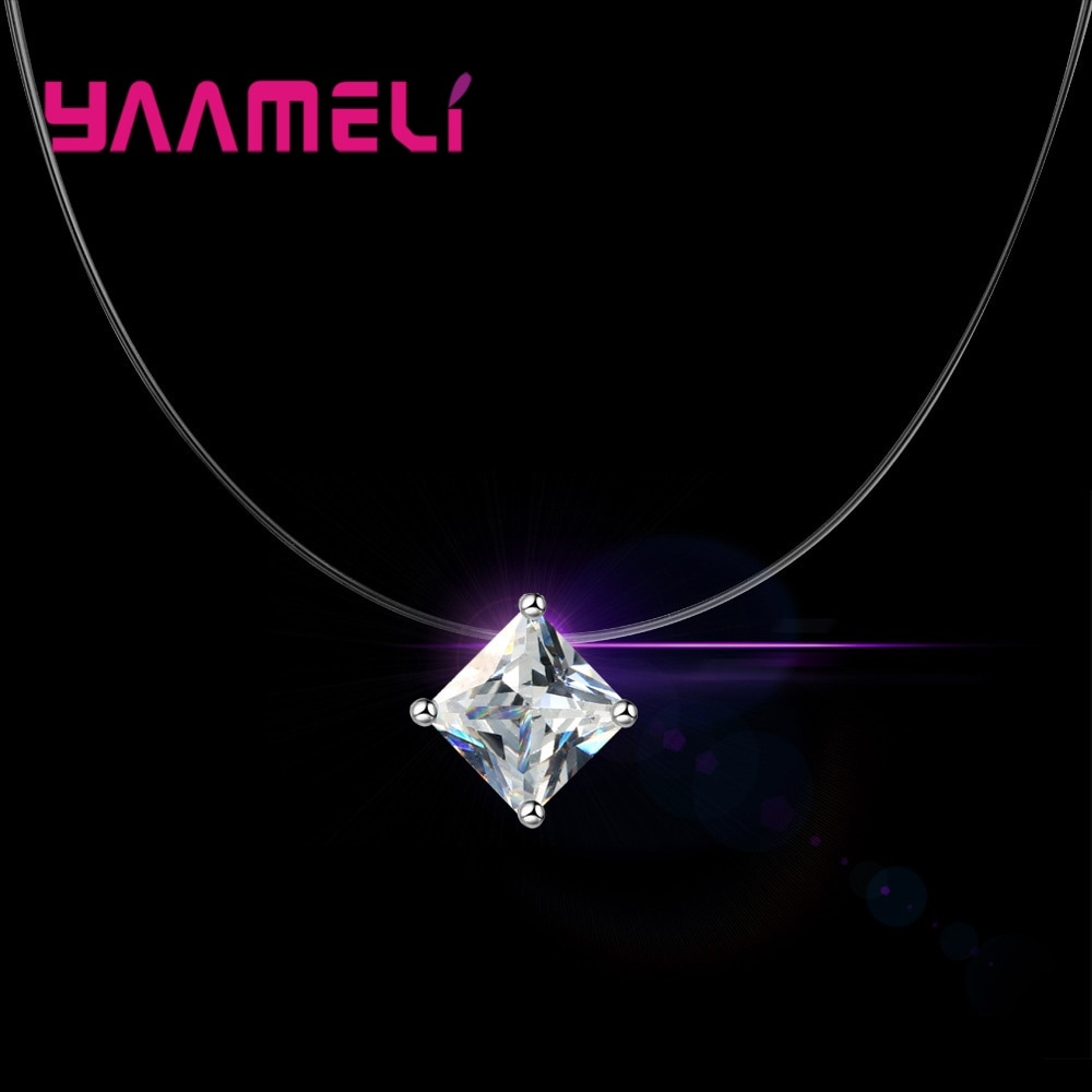 Discount Price 925 Sterling Silver Women Short Chain For Party Jewelry Clear Austrian Crystal Pendant Necklace Gift