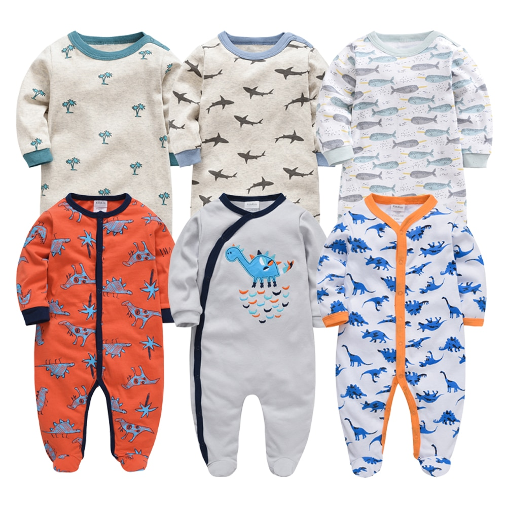 2019 Honeyzone Newborn Baby Girl Clothes Winter Full Sleeve Body baby boy Footie recien nacido Cotton Infant cartoon jumpsuit