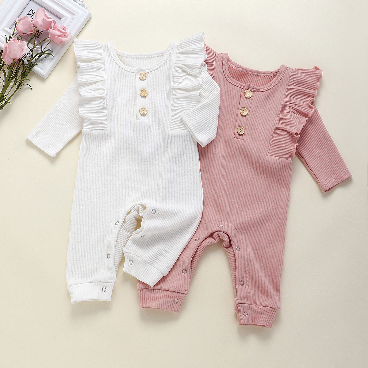 Infant and children's clothing autumn dress jumpsuit romper cotton pit one-piece clothing free shipping