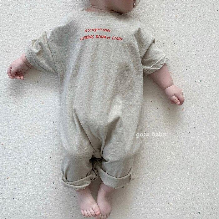 2020 Infant Soft Cotton Playsuit Newborn Infant Baby Boy Girls Romper Solid Button Short Sleeve Jumpsuit Sunsuit Baby Clothes