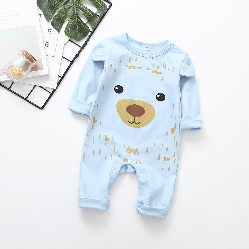 2020 Infant Baby Rompers Long Sleeve Jumpsuit Newborn Clothes Spring Autumn Pajamas Cute lion print Baby Girl Boy Clothes