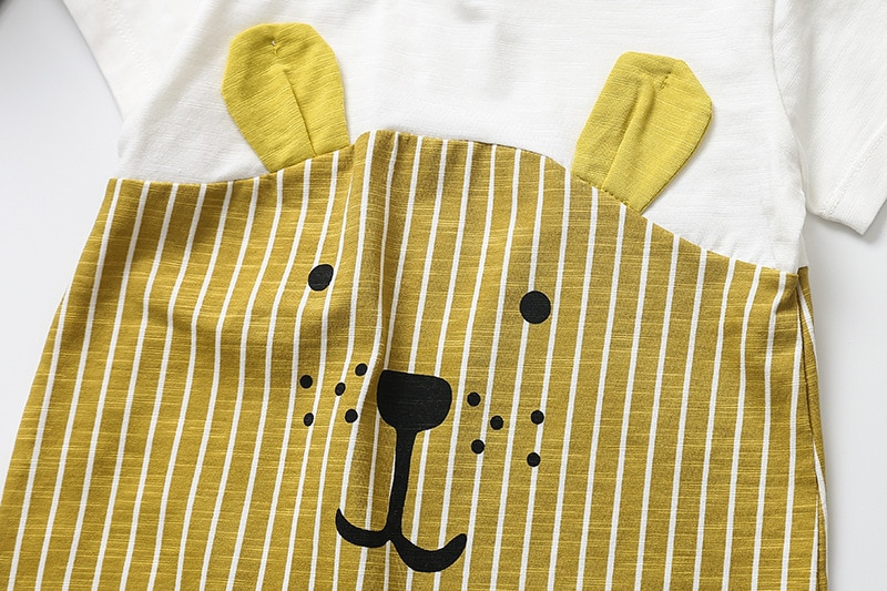 2020 cartoon Unisex Newborn Baby Clothes pure cotton Summer Rompers Kids Baby Girl Jumpsuit Toddler Costume for boys romper