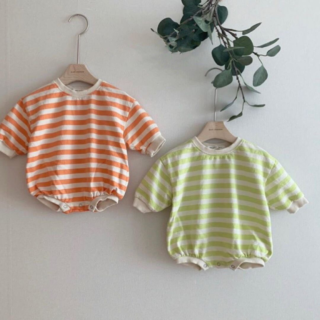 2020 Newborn Spring Clothing Toddler Baby Boy Girl Bodysuit Kids Cute Striped Jumpsuit Casual Baby Clothes