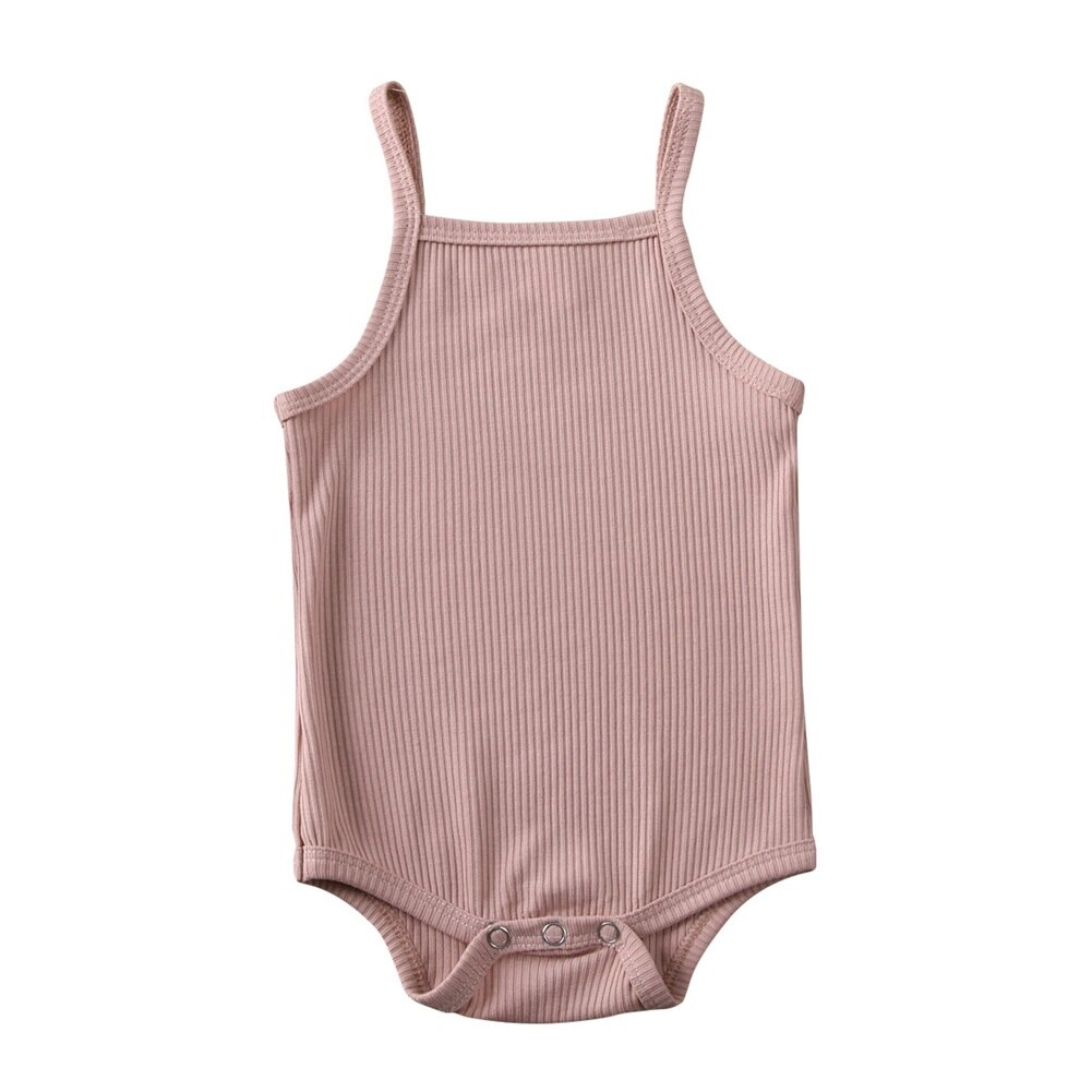 2020 Body Baby Bodysuit Newborn Baby Girl Clothes Summer Solid Sleeveless Sling Bodysuit Jumpsuit Shorts Daily Clothes 0-18M