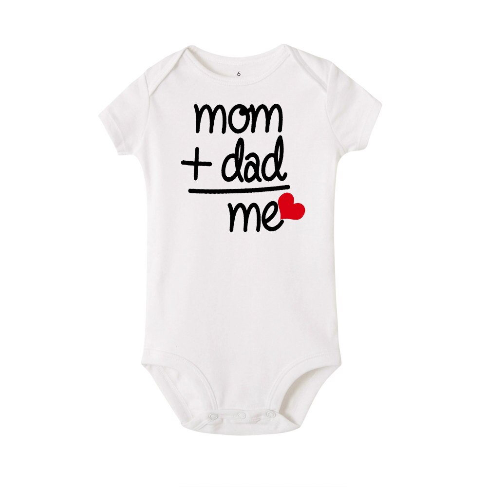 2020 NEW Newborn Baby Boy Girl Bodysuit Outfit Costume mom dad me letter bodysuits boys Clothes Bodysuit Clothes playsuit 0-24M