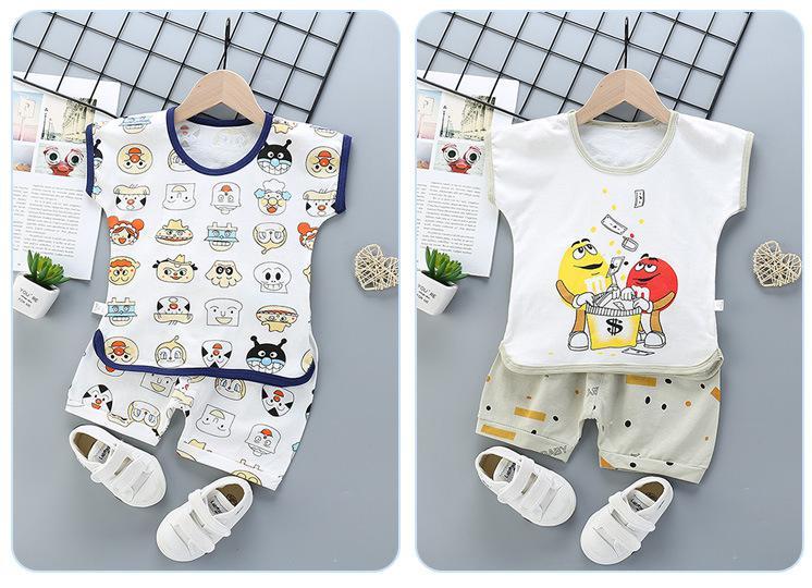 2020 Summer Baby Boy T Shirt Newborn Set Striped Shorts Trousers + Plan Tops  Babies Clothes For Toddler Kids Girl Boy
