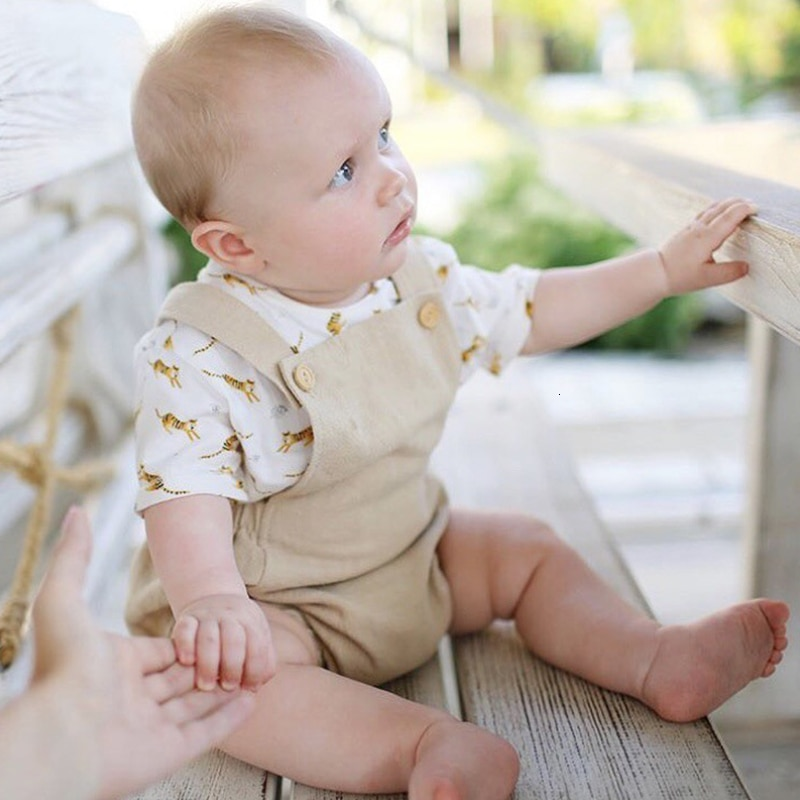 2020 New Baby Clothes Summer Fashion Toddler Baby Girl Boy Romper Linen Playsuit High Quality Newborn Infant Jumpsuit Photo Prop