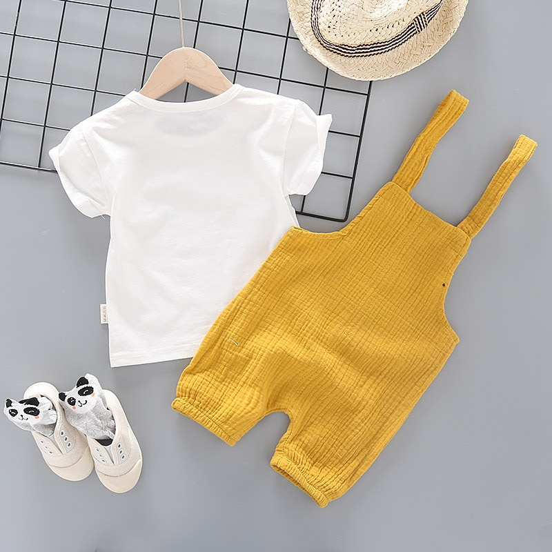 Baby Boy Clothes 2020 Summer  Baby Girl Clothing Sets Newborn Cotton Cartoon Short Sleeved T-shirt+pants Kids 2pcs Suit