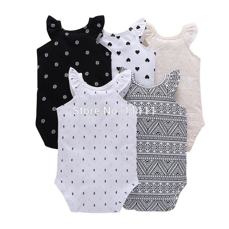 short sleeve print Bodysuit for Baby Boys Girls outfit summer clothes newborn body suit costume 2020 5pcs/set new born clothing