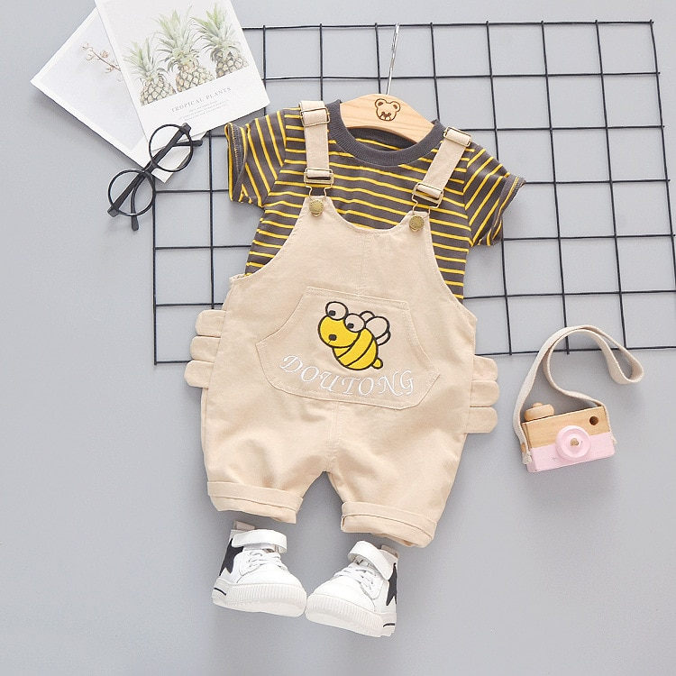 Infant Clothing For Baby Girls Boys Clothes Sets 2020 Summer Kids Baby Clothing Overalls Outfit Suit Newborn Clothes 9 12 Month