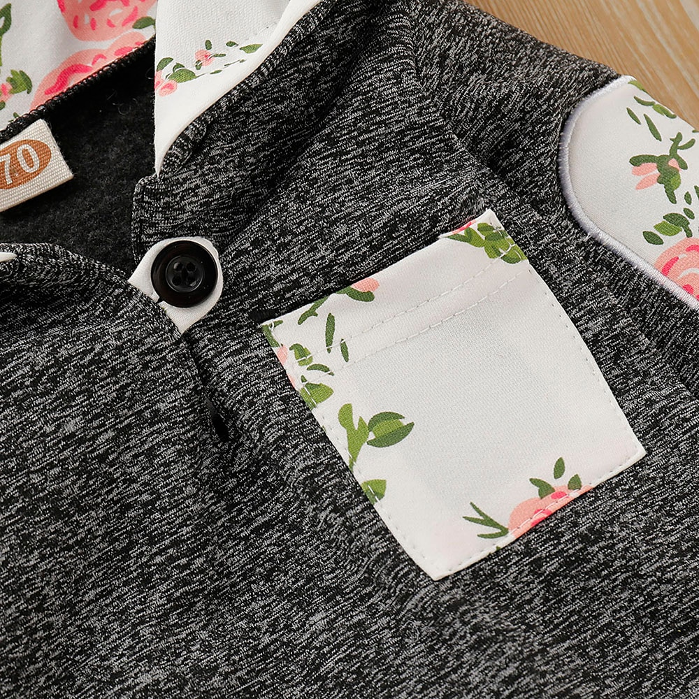2020 Brand New Infant Toddler Newborn Baby Girls Floral Outfit Clothes Tracksuit Hooded Tops+Leggings Pants Headband 3Pcs Set