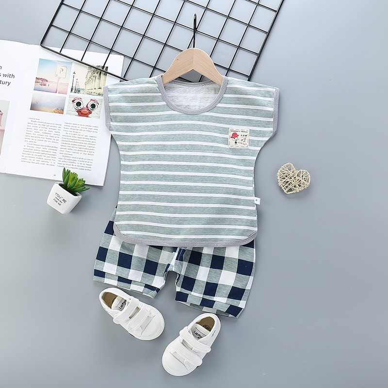 baby boys clothes 2020 new style Cotton Baby Girls Clothes Newborn Baby Clothes Set 2PCS Unisex Kids Clothing Sets