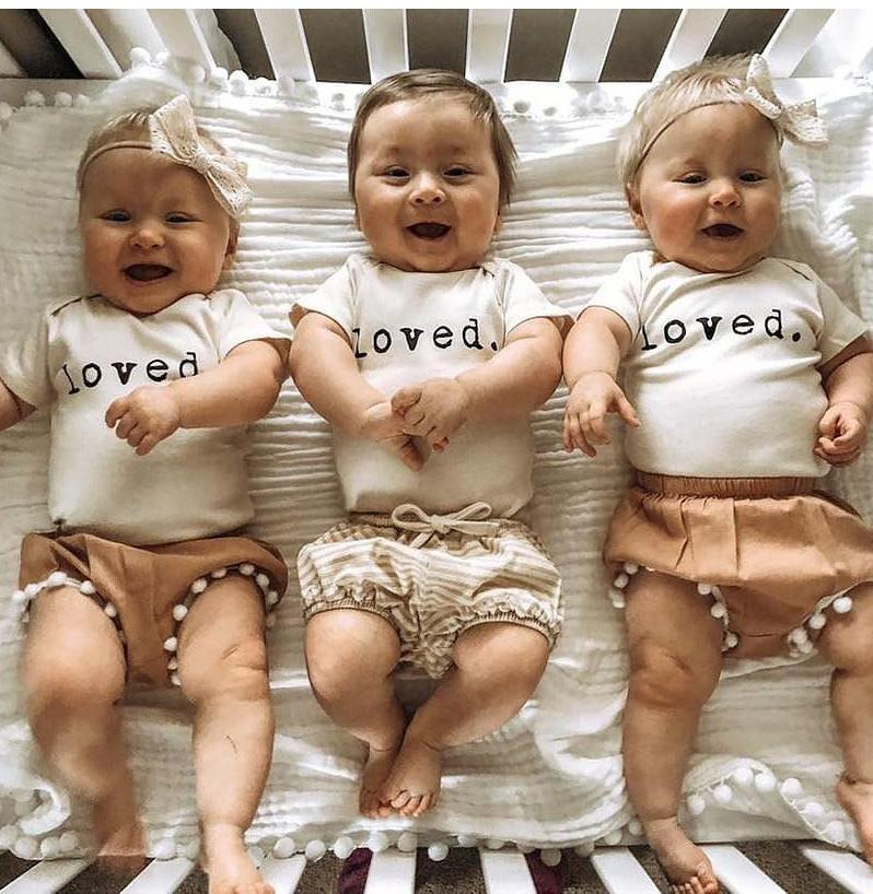 2020 Spring Summer Newborn Baby Clothing Infant Kids Baby Girls Boys Bodysuits White Long Sleeve Jumpsuit Clothes Tops Playsuits