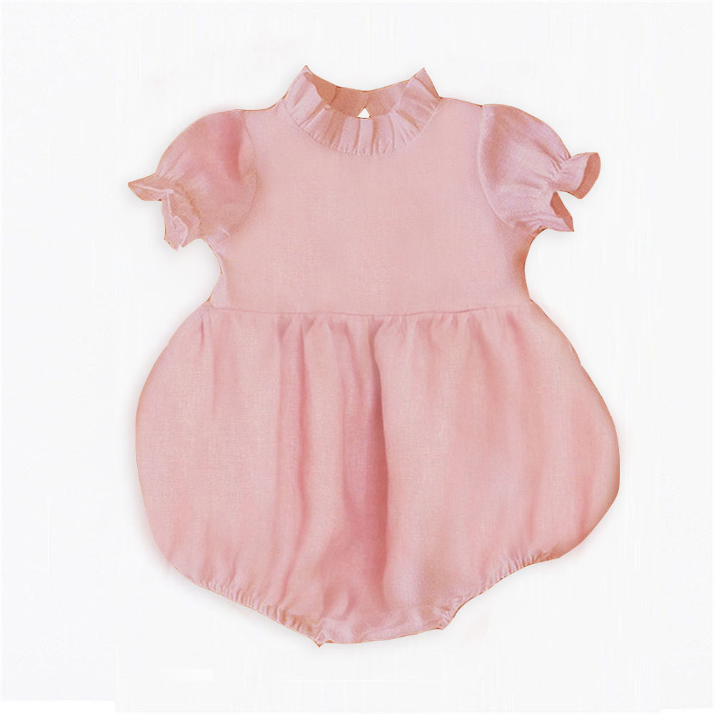 Baby Girl Clothes Summer 2020 New Infant Baby Girl Rompers Solid Sleeveless White Pink Newborn Jumpsuit Outfit Sunsuit Clothing