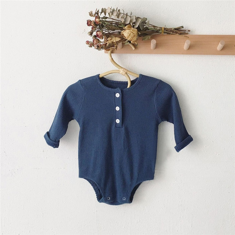 Baby Boy Romper Clothes 0-24M Newborn Girl Rompers Cotton Long Sleeve Jumpsuit Outfit Clothes Hat For Kids Baby Onesie Spring