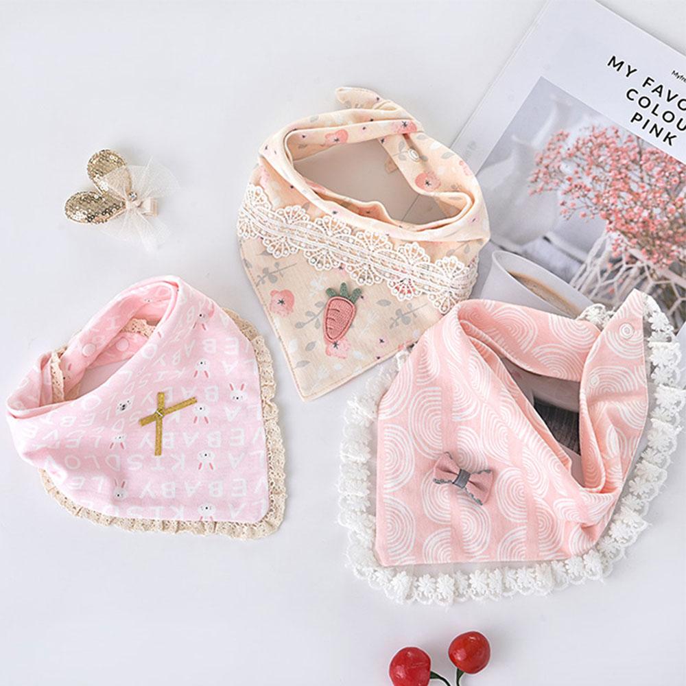 3pcs/lot Special Baby Bibs Boy Girl Bandana Cotton Absorb Bib Burp Cloth Triangle Baby Scarf Burp Newborn Princess Accessories