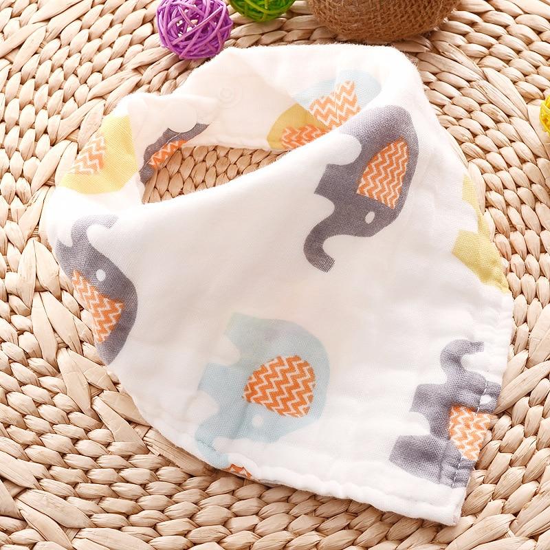 Muslin Baby Bibs Girls Boys Baby Cloth Babador Animal Print Baby Bandana Bibs Bebe Smock Burp Cloths Accessory Infant Baby Stuff