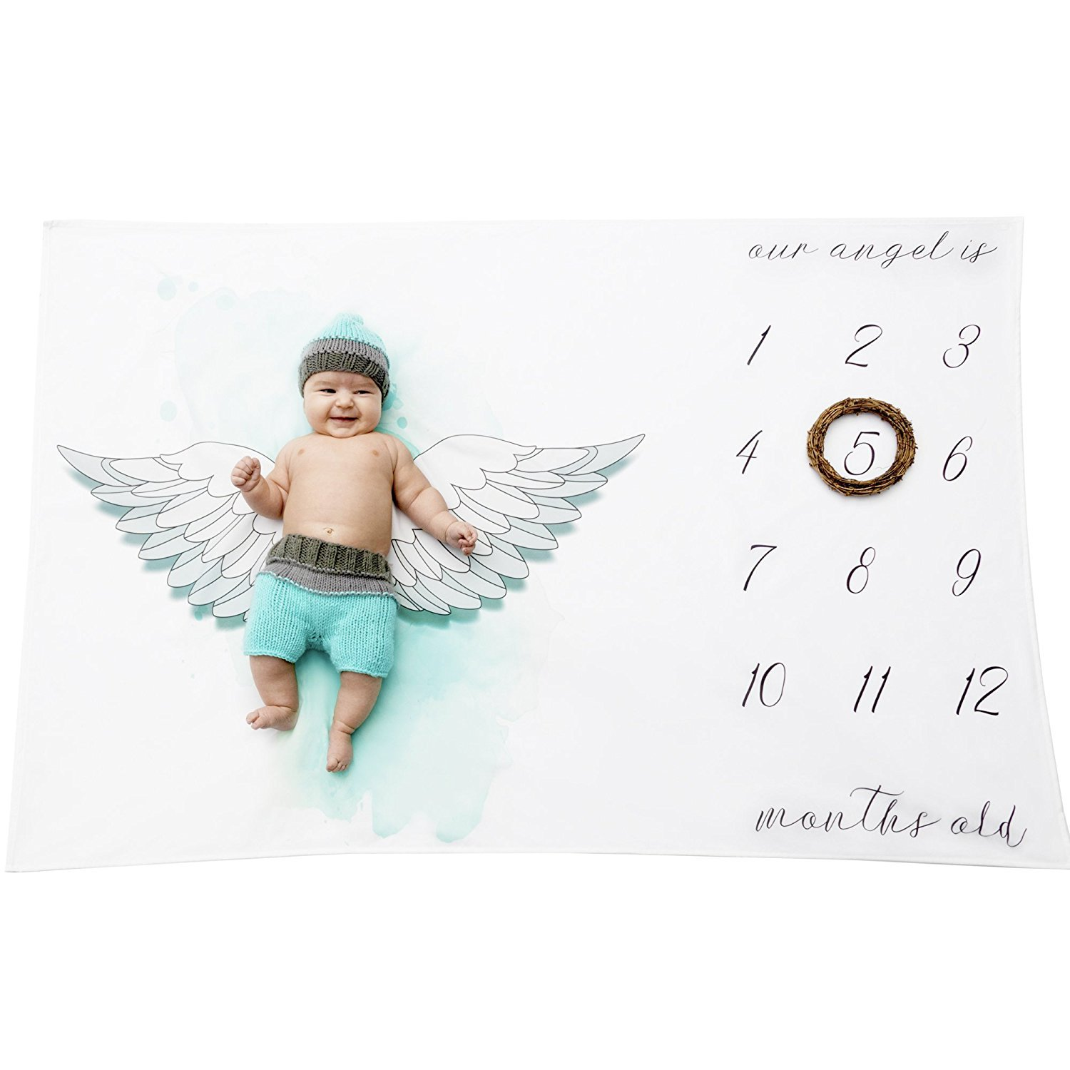 Newborn Baby Boys Girls Personalised Blanket Costume Photo Photography Props Baby Monthly Growth Blanket Photography Background