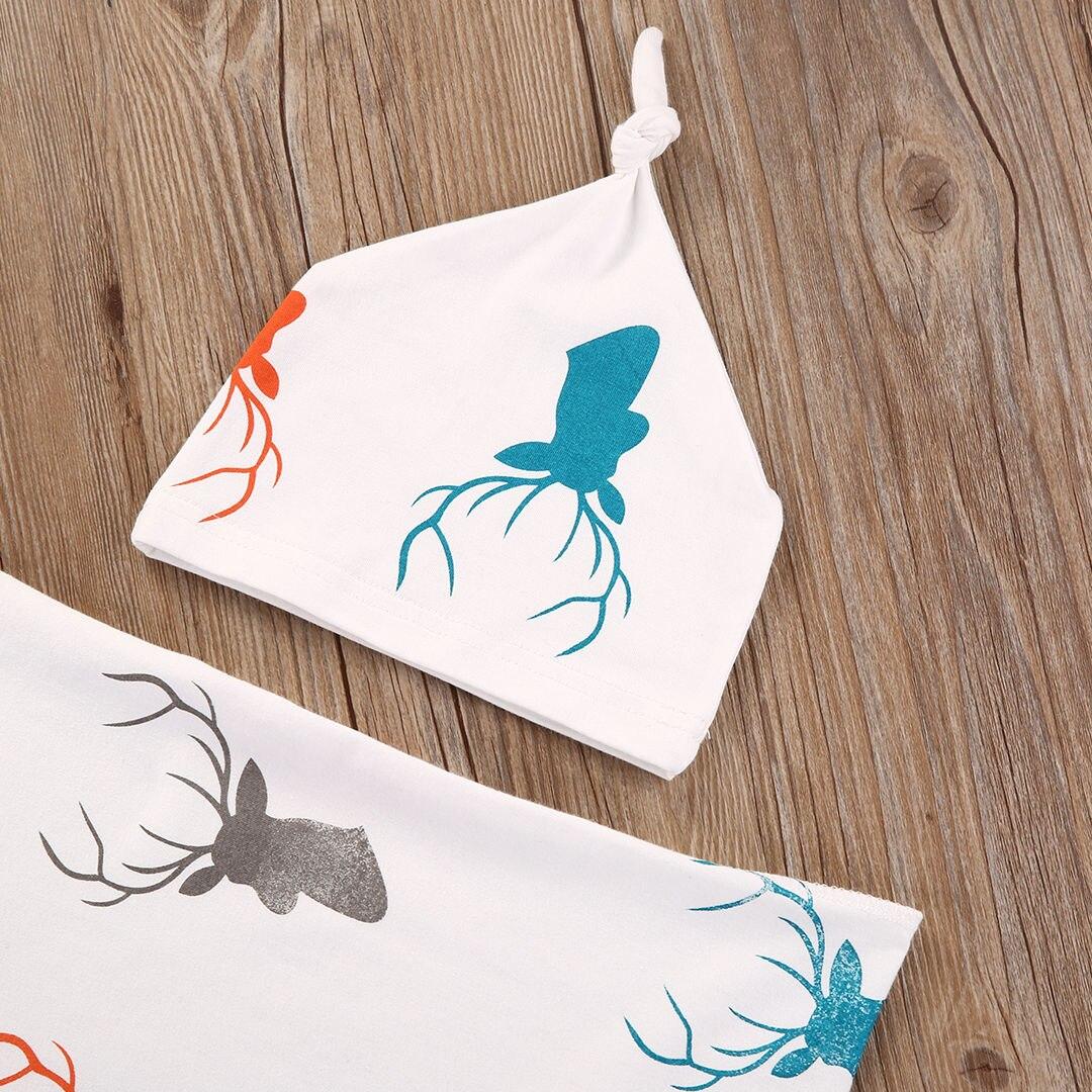 2020 Hot Sale Toddler Kids Newborn Baby Boys Girls Stretch Cotton Deer Wrap Swaddle Animal Blanket Bath Towels Sleeping Blankets