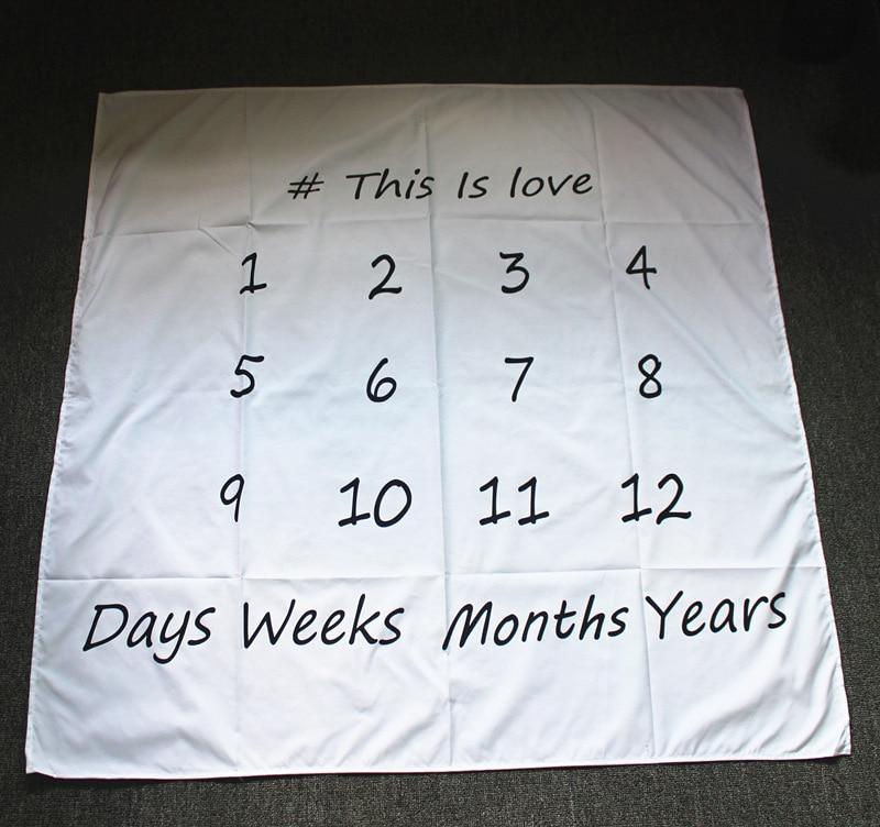 Infant Baby Milestone Blanket Photo Girl Boy Newborn Photography Baby Monthly Shower Blanket