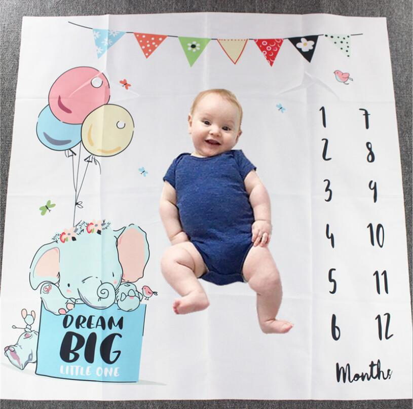 Baby Blanket Background Blanket Newborn Photography Props Infant Rug Baby Boy Girl Milestone Photo Props Photography Accessories