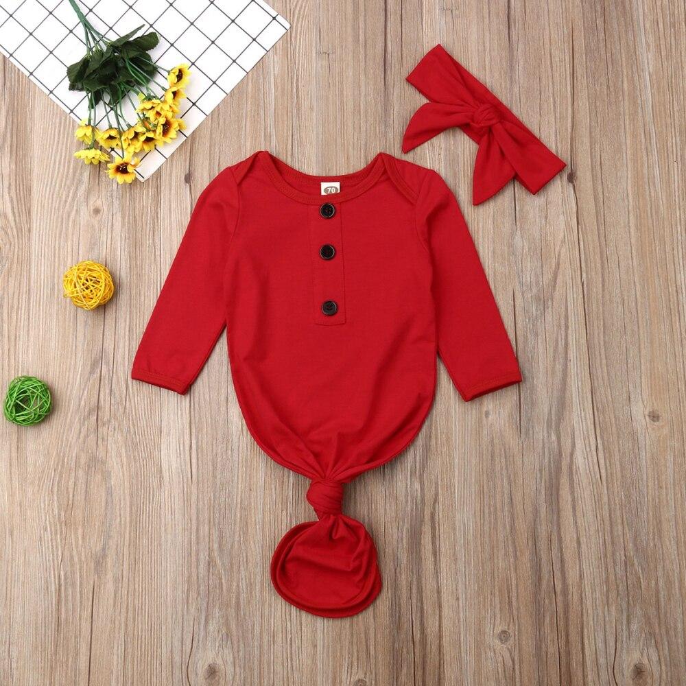 2019 Brand 0-12M Newborn Infant Baby Girls Boys Sleeping Bags Blanket Swaddle Wrap Gown 2PCS Outfits Set Sleepbag+ Headband Hat