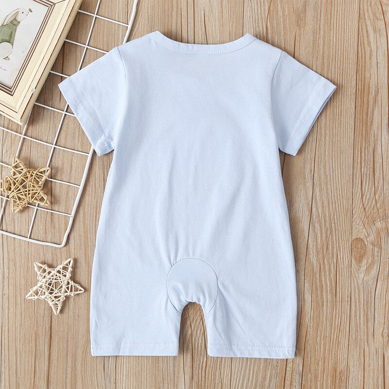 Baby Boys Clothes Short Sleeve Romper For Newborn Girls Sleep Gown Star Moon Sun Cloud rompers Summer Outfit Jumpsuit