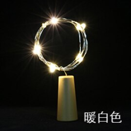 New Year 2020 1m 2m LED Wine Bottle Lights Copper Wire Fairy Mini String Lights Christmas Decorations for Home Kerst Natal Decor